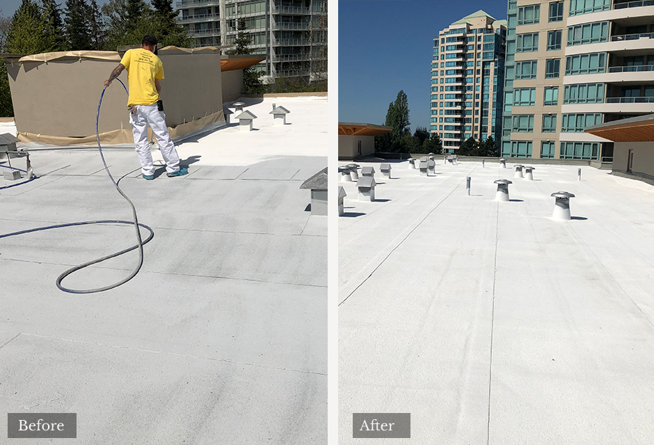 Rooftop commercial painting